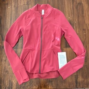 NEW LULULEMON The Ease Jacket Peplum Nulu Align Jacket Vintage Rose Pink NWT